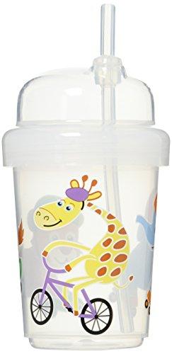 41VYDNiJfdL - Nuspin Kids 8 Oz Zoomi Straw Sippy Cup, Safari Animals Style