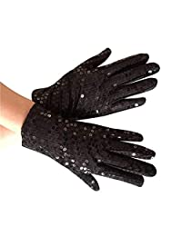Carnival Cabaret Sequin Gold Party Wear Gloves Hand Gloves Sequin Rave Dance Gloves