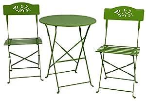 River Cottage Gardens Lime Green Bistro Table Set