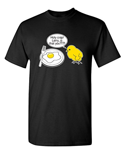 Crap Black T-shirt (Holy Crap Larry Is That You funny graphic gift funny T Shirt Xl Black)