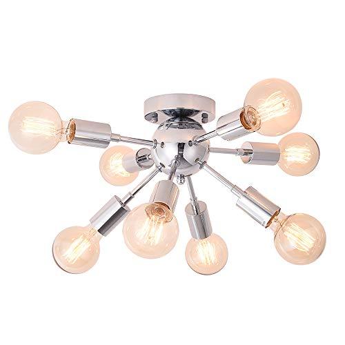 OYIPRO Sputnik Plafondlamp met 8 vlammen, moderne plafondlamp, E27 lampfitting, metaal, voor eetkamer, kamer, woonkamer…