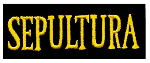 Sepultura - Yellow on Black Rectangle Logo - Embroidered Iron On or Sew On - Rectangle Logo Yellow