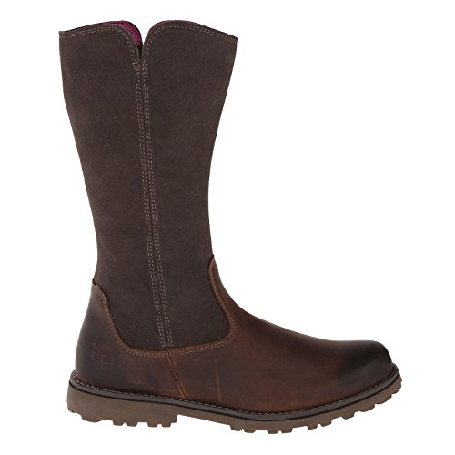 Asphalt Trail Tall Boot (Timberland Boy's Asphalt Trail Skyhaven Tall Boot Grade School Dark Brown Full Grain/Suede 6 M)