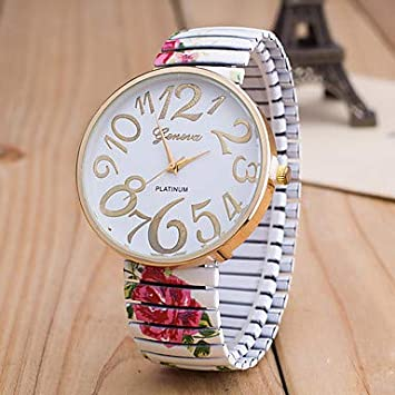 Sports watches Relojes de Hombre Mujer Reloj de Pulsera Cuarzo Reloj Casual Esfera Grande Aleación Banda