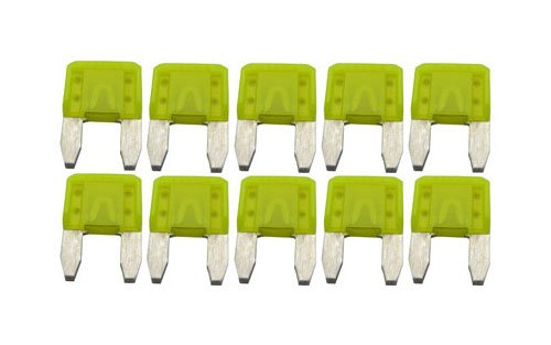 Hayward GLX-F20A-10PK 20-Amp Yellow Fuse Replacement Kit for Select Hayward Salt Chlorine Generators, Set of -