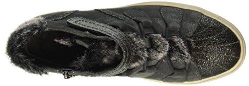Tamaris 25294, Sneakers Hautes Femme Gris (Grap./Plat.Str 213)