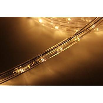 Amazoncom 10Ft Rope Lights Warm White LED Rope Light Kit 10