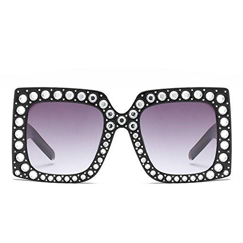 De Negro De Rosa Strass Piazza TIANLIANG04 Mujer Gafas Parte De Violeta Sol Lujo Sol Gafas Grande La Uv400 De Hembra Grande black qRvAfpwvW