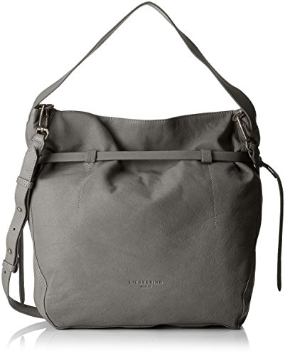 Liebeskind Berlin Women's Lincoln Vintage Leather Hobo, Rock Grey (Handbag Belted Hobo)