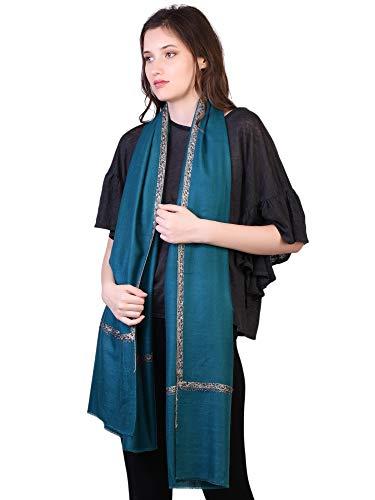 Spruce 100 Ricamo Donna Kashfab Pashmina Mano Inverno Scialle Sciarpa Da Cachemire Handspun Shaded 7dxI1