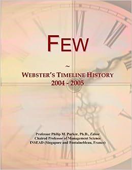 Book Few: Webster's Timeline History, 2004 - 2005