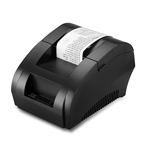 Excelvan 5890K USB 58mm POS Dot Thermal Receipt Printer, Black