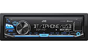 JVC KD-X240BT Single DIN In-Dash Digital Media Car Stereo with Android/iPhone Compatibility