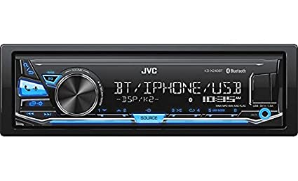 Jvc Kd X240bt Single Din In Dash Digital Media Car Stereo With Android Iphone Compatibility