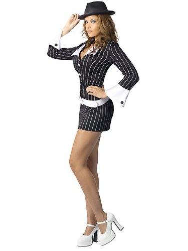 Pinstripe Gangster Adult Shoes (Gangster Moll Adult Costume - Medium/Large)