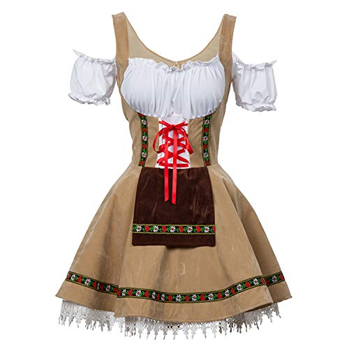 Womens Oktoberfest Bavarian Bar Maid Costume