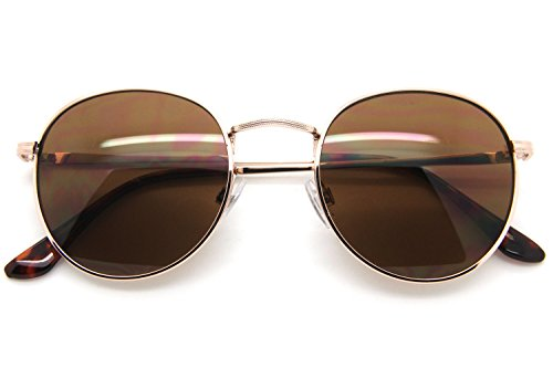 Round Oval Style Men Wome Sunglasses Metal n Frame Small Lens Fashion - Readers Brine Costa