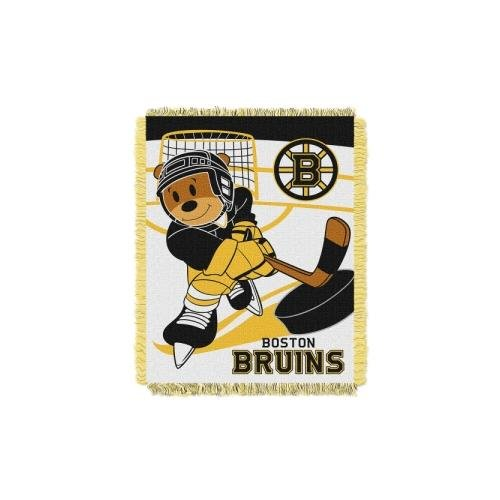Blanket Bruins Boston (The Northwest Company Officially Licensed NHL Boston Bruins Score Woven Jacquard Baby Throw Blanket, 36