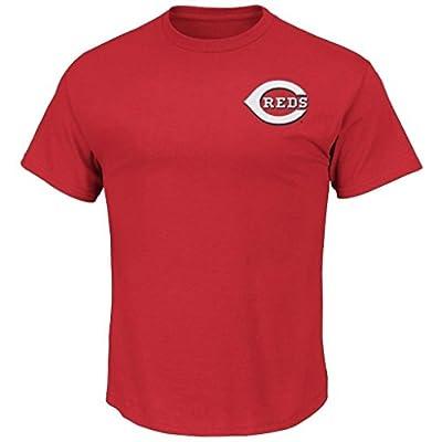 Cincinnati Reds Men's Big & Tall Wordmark T-Shirt Red