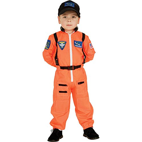 Child's Astronaut Suit Costume (Size:Large 12-14) (Orange Nasa Flight Suit)