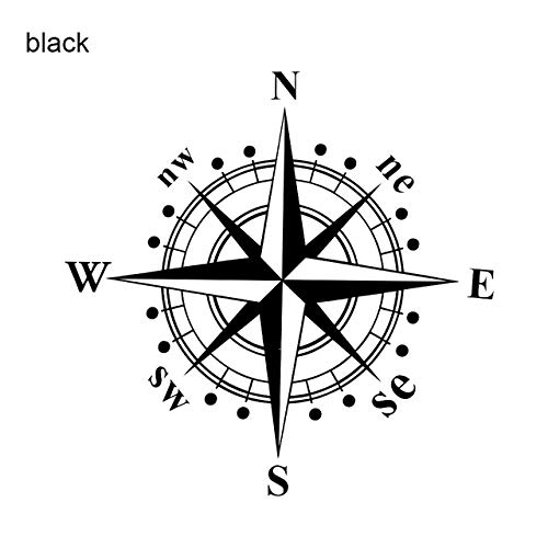 15 x 15cm Vinyl Material Art Design European Style Auto Decal NSWE Compass Car Body Door Window Sticker Decal Accessories - (Color Name: Black)