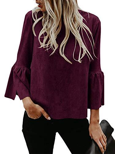 - Kathemoi Women Autumn Lightweight Jackets Faux Suede Zipper Solid Coat Tops Outwear