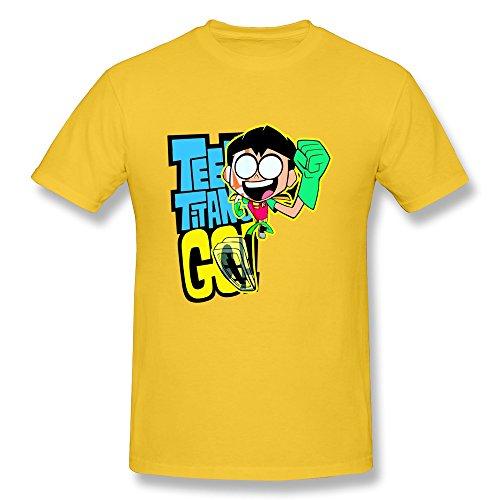 TBTJ Teen Titans Go Robin Tees For Men Yellow XX-Large (Robin Custome)