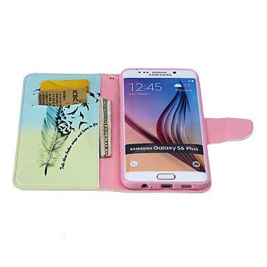 Casos hermosos, cubiertas, Patrón de cuero de la PU caja del teléfono carta invertida material para samsung galaxy s3 / s3mini / s4 / s4mini / s5 / s5mini / s6 / ( Modelos Compatibles : Galaxy S4 Mini Galaxy S4 Mini