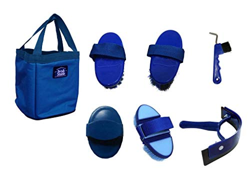 Barn&Stable Pet Grooming Set Horse Grooming Set (Royal Blue)