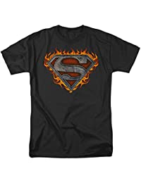 Superman - Iron Fire Shield T-Shirt Size L