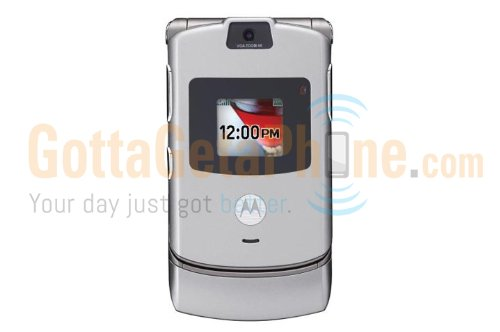 Verizon Motorola RAZR V3m GPS 3G Camera Cell Phone - Silver