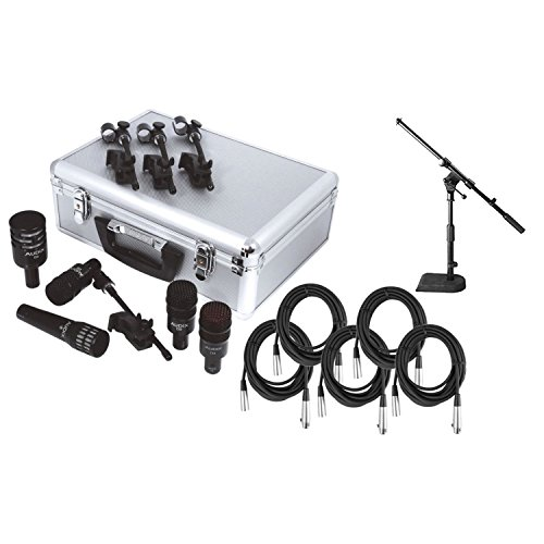 Audix DP5a 5-Piece Drum Microphone Pack w/ 5 Free Mic Cables and 1 Mini Boom Stand! (Tom Case Rack)