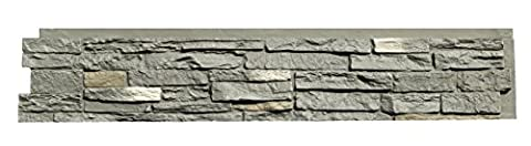 NextStone Slatestone Panel Rundle Ridge 8 Pack - Faux Stone Siding