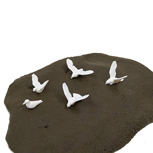 CWBPING 24pcs Model Train Railway Plastic Birds Small Figure Toy Model Dove Bird of Peace 1:75 Scale OO from CWBPING