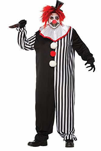 Plus Size Clown Costumes (Forum Novelties Men's Evil Clown Costume, Multi,)