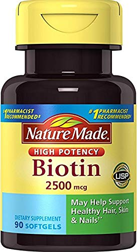 Nature Made High Potency Biotin Softgels (270 Count (3 Bottles of 90))