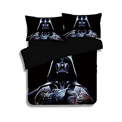 3D Star War Duvet Cover - Jameswish Kids Boys Favourite Cartoon Star Solider Bed Linen Bed Cover 3-Piece Including 1Duvet Cover 2Pillowshams Great Comfortable King Queen Full Twin Size
