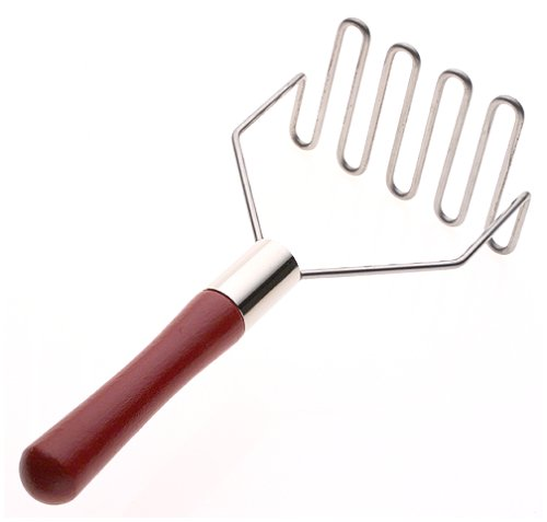 - Best Manufacturers 10-Inch Standard Masher with Red Wood Handle