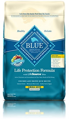 Blue Buffalo BLUE Senior Small Bite Chicken & Brown Rice 15 lb (Buffalo Blue Small Bites)