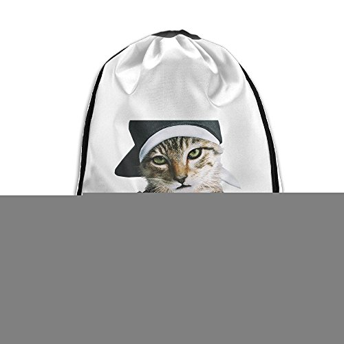 Bekey Keanu Cool Cat Drawstring Backpack Sport Bag For Men & Women For Home Travel Storage Use Gym Traveling Shopping Sport Yoga Running