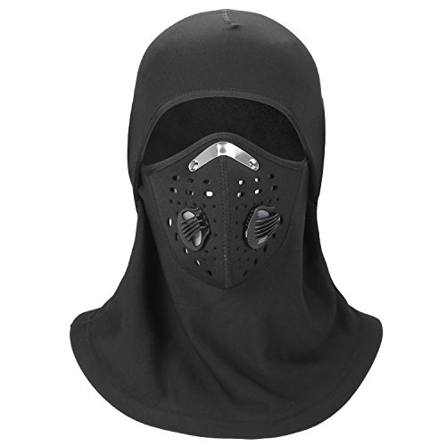 Uniquebella Dustproof & Windproof Full Face Mask, Breathable Winter Balaclava Ski Fleece Thermal Warmer Anti-haze Cover Hat for Men & Women for Outdoor Sports For Sale