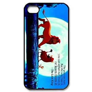 RebeccaMEI Custom Your Own Personalised Hard The Lion King iPhone 4 4S Cover , Snap On The Lion King iPhone 4 4S Case