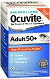 Bausch + Lomb Ocuvite Adult 50+ Eye Vitamin & Mineral Supplement - 90 Softgels, Pack of 6
