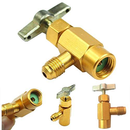 Kaeltemittel Behaelter Flaschen oeffner Ventil SODIAL 1//4 SAE M14 Gewinde Adapter R-134A Fuer Kfz Klimaanlagen
