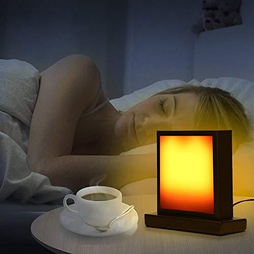Eterbiz LED Flame Effect Table Lamp-Decorative Flickering Light Lamps Flame & Night Light,Home Decor Desk Lamp,Atmosphere Lighting Warm Yellow Lights (Short Table lamp)