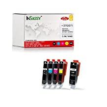 InSassy 5 Pack Replacement For PGI-270XL CLI-271XL Ink Cartridges - Compatible with PIXMA MG7720 MG6820 MG6821 MG6822 MG5720 MG5721 MG5722 TS9020 TS8020 TS6020 TS5020