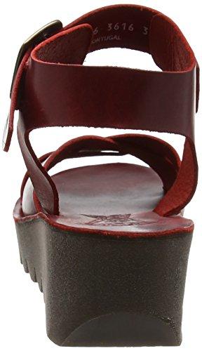 Sandalias Cuñas de Mujer Rojo Fly London Red P143909002 006 TwqznE6I