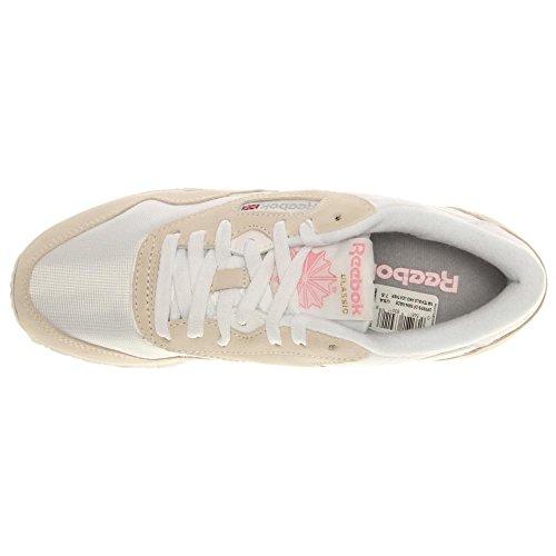 Reebok Classic Nylon Zapatillas, Mujer Blanco (White/Light Grey)