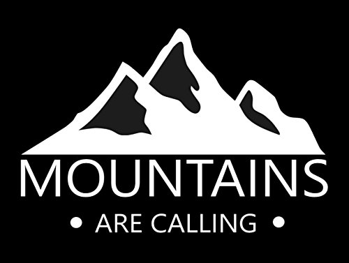 """Mountains are Calling Decal- {White} 5"""" Sticker - RV for sale  Delivered anywhere in Canada"""