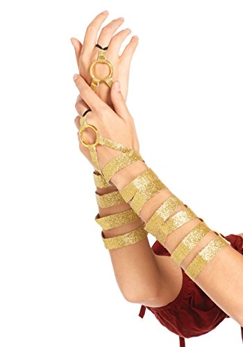 Golden Wrap (Leg Avenue Women's Golden Arm Wraps Costume Accessory, Gold, One)